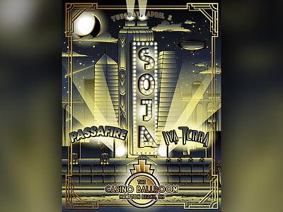 Soja Limited Edition Artist Series Hampton Beach Poster Art 2019 concert concert poster poster art illustration reggae music