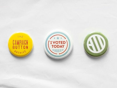The Campaign Button Archive campaign buttons voting election democracy buttons vintage archive action backed