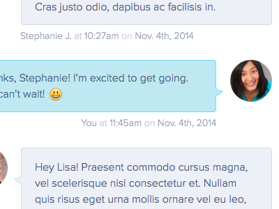 Chat messages chat ui ux emoticon emoji uifaces