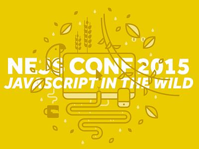 NEJS Conf js javascript vector illustration