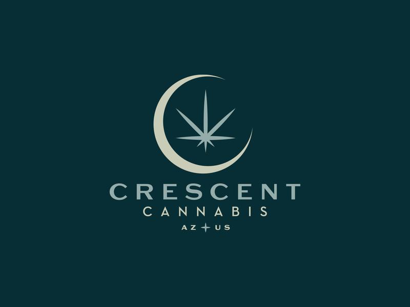 Crescent Cannabis cbd weed cannabis branding cannabis design cannabis logo cannabis stars moon crescent moon crescent