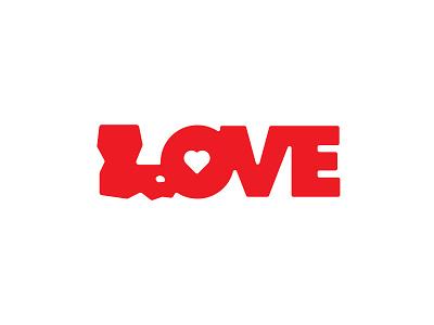 Louisiana Love Logo logo typography southern cajun peace love state louisiana