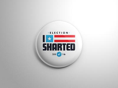 I Voted  go vote political politics button republican democrat president election 2016 election vote