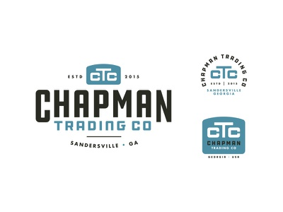 Chapman Trading Co monogram outdoor rugged company trading screenprint print