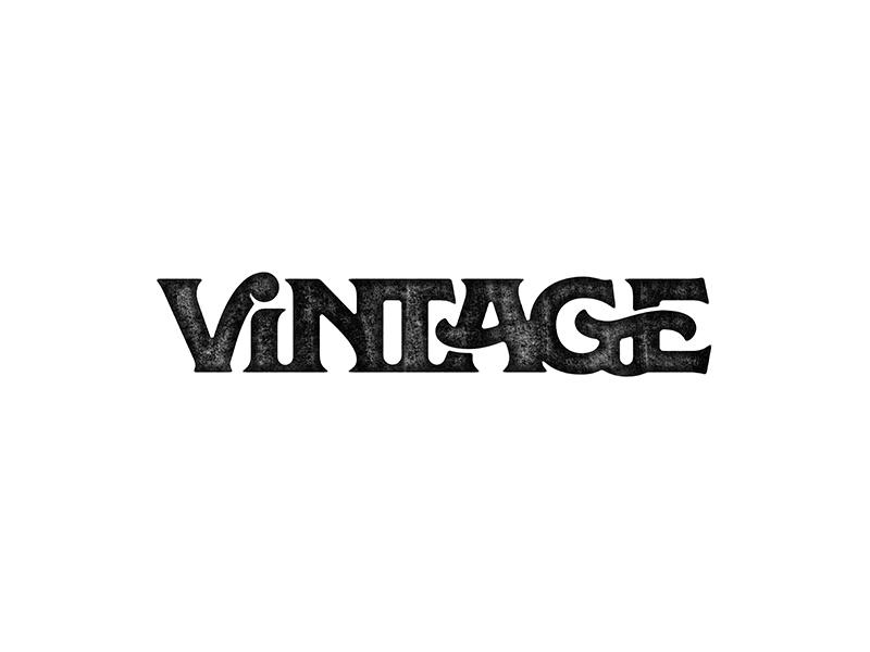 Vintage Wordmark seventies retro logo type font letters typography vintage