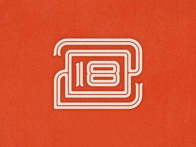 2018 Monogram custom logo typography inline retro vintage monogram new year