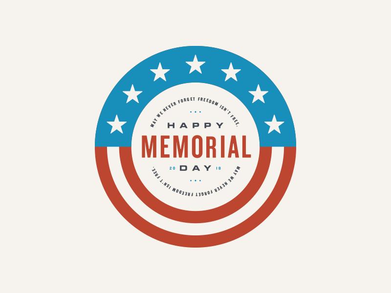 Memorial Day 2018 badge design patriotic logo retro vintage badge holiday memorial day america usa