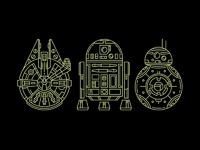 Star wars dribbble