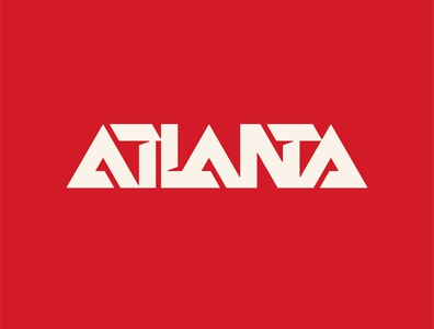 Atlanta Experimental Type wordmark logotype logos vector retro capital south experimental logo georgia
