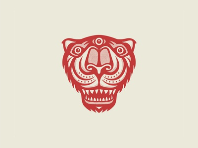 El Tigre mascot eyeball eye vision illustration wildlife animal tiger