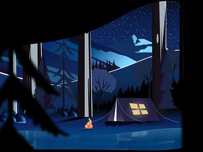 Holi breaks & Sara lake. visualart shadesandmotion vector design illustration graphic-art graphicdesign