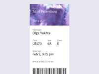 Boarding Pass — Day 24 #dailyui