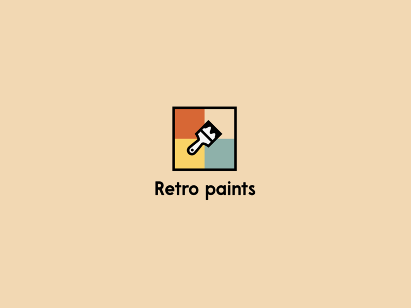 Retro Paints brand design illustration retrowave pastel logo designer shopping app shop retro design retro logo retro minimalistic minimalist logo minimal paint logo design logo