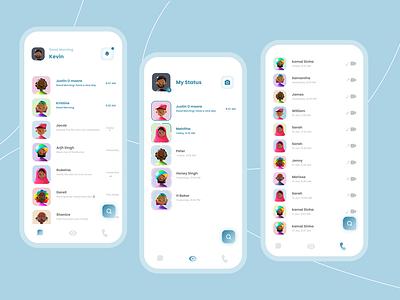 Chat App flat illustrator minimal figma app ux ui illustration graphic design design