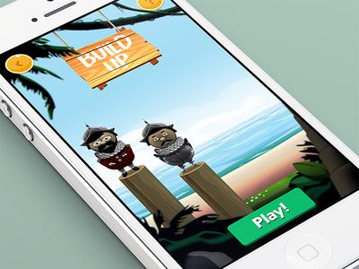 Quiztador - Build up stage iphone quiz ui game cartoon mobile