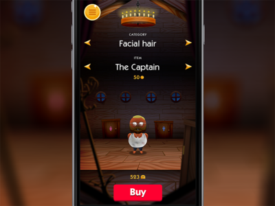 Quiztador - Dressing room wood shop iphone quiz ui game cartoon