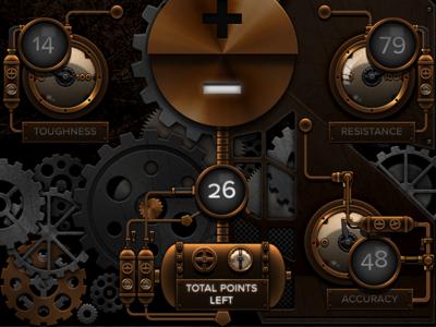Prequel the Game iphone game steampunk ui cogwheels machine brass copper gold