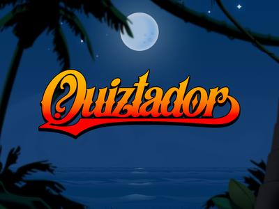 Quiztador - New logo logo identity quiz cartoon game illustration