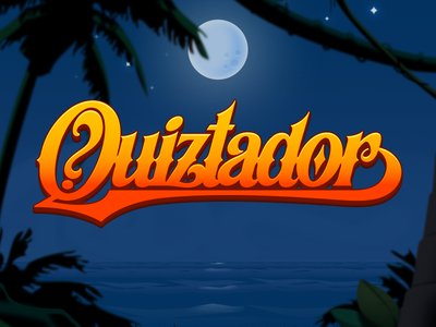 Quiztador - New logo 2 logo logotype caribbean quiz gold script