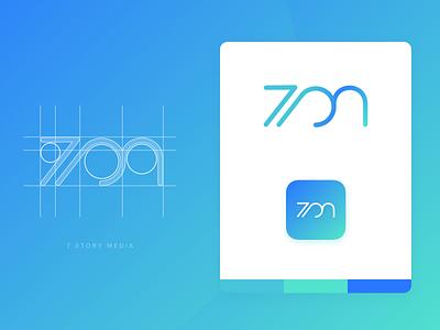 7 Story Media - 7sm typ logo typography design branding