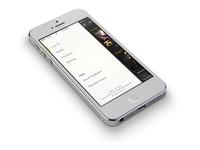 Peel iOS menu