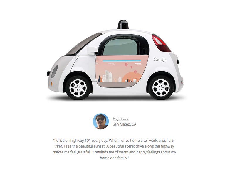 Winner of the Google self Driving Car Project by Randy Lee on Dribbble