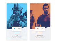 Spotify style TV show concept design