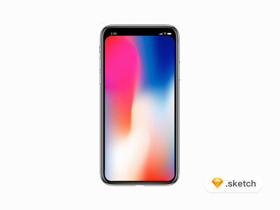 iPhone X mockup with Filled status bar mobile design sketch mockup iphonex iphone