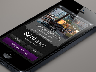 Hotel Tonight for iPhone5 / Concept design