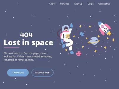 404 Error DailyUI-08