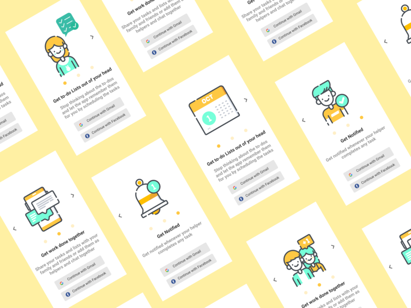 To Do List Application to do list ui design design flat illustration app uidesign ui