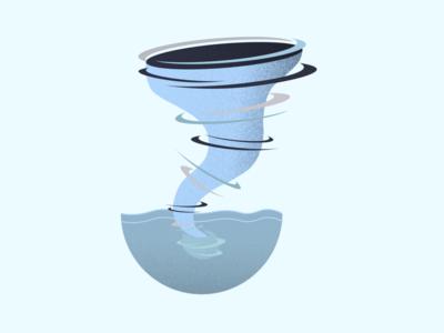 Tornado flat illustration art ocean tornado vector adobe graphic digital design illustrator
