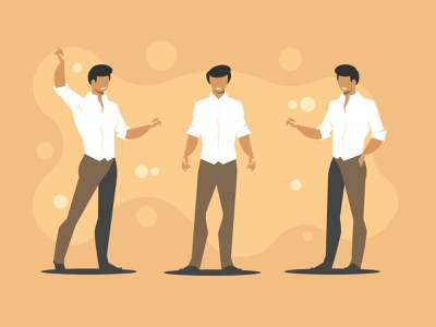 Office worker character men corporate standing manager suit happy young job person businessman people business vector illustration male shirt character professional office worker