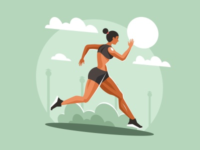 Young sportswoman running montreal action park alone caucasian outside healthy coastline dusk road silhouette sunset fit beautiful athlete girl woman running runner sport