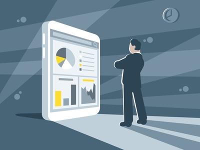 Financial statistics business concept