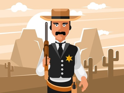 Sheriff wild west