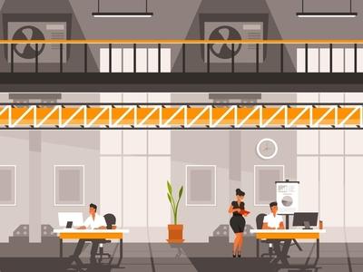 Loft style co-working office