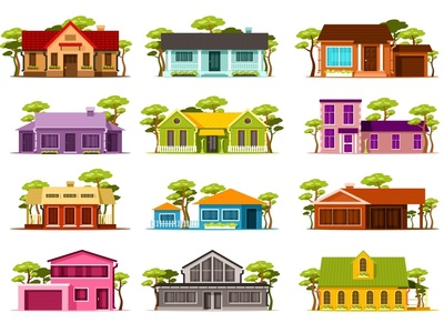Set of small houses