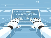 Artificial intelligence writing code