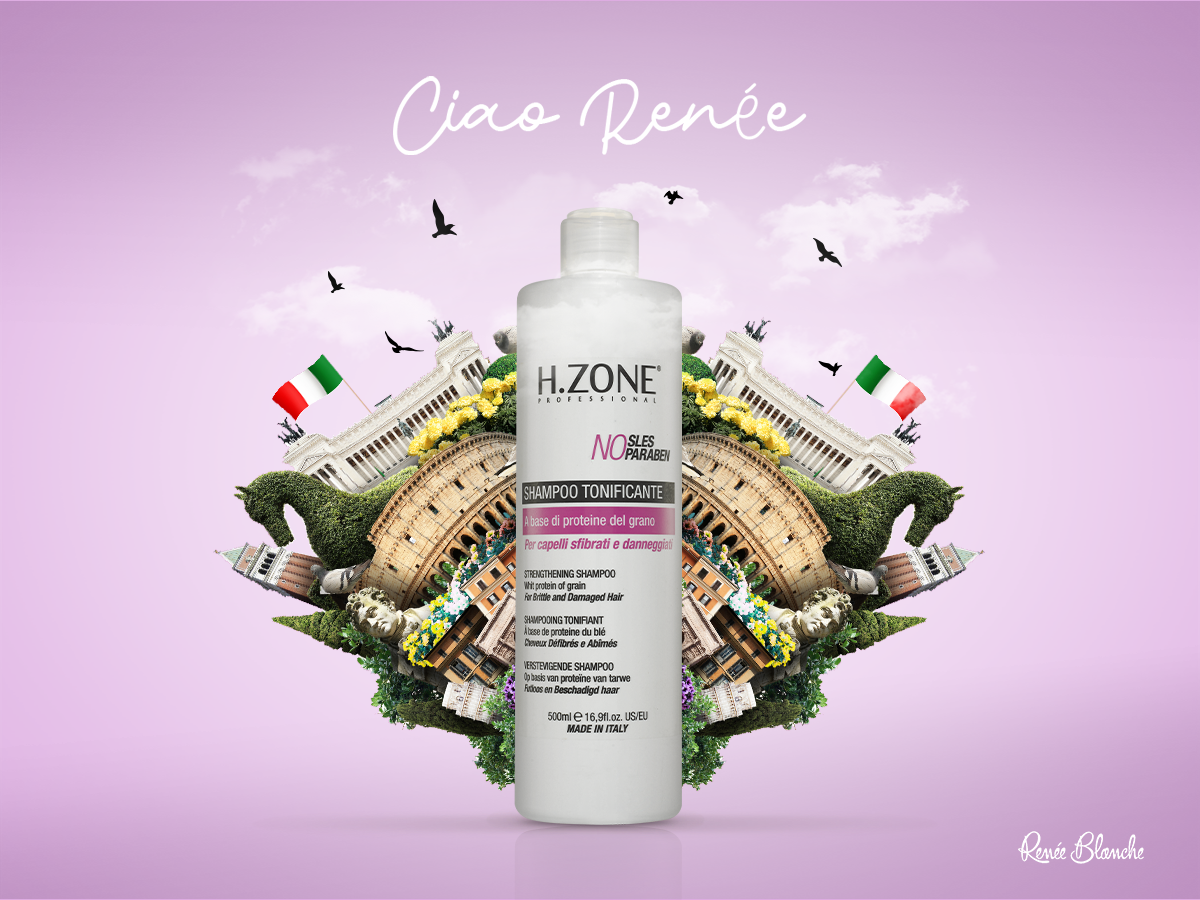 Renée Blanche social media italy digital shampoo ciao hairstyle hair design cosmetics