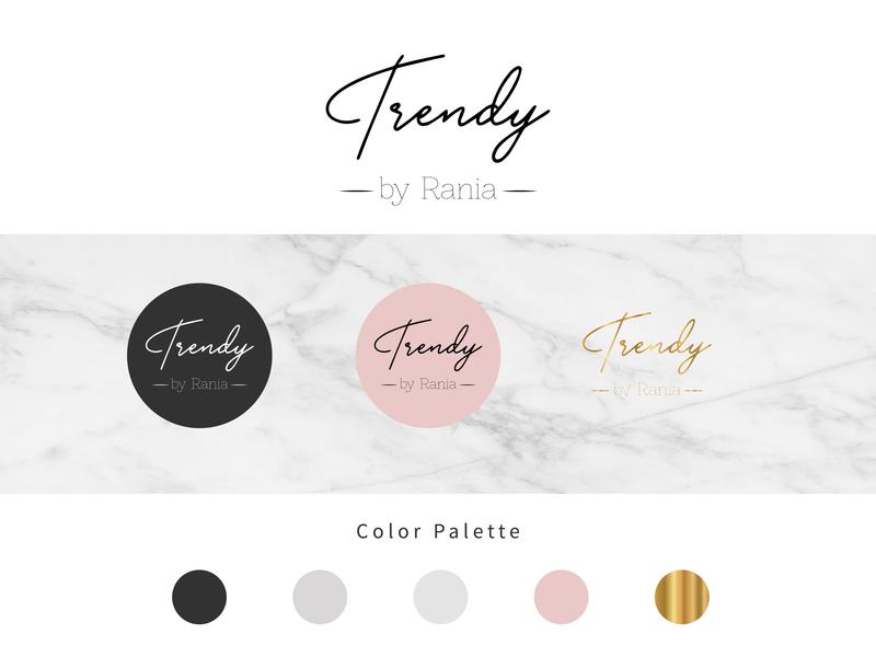 Trendy Logo trendy trend fashion identity design logotype logo
