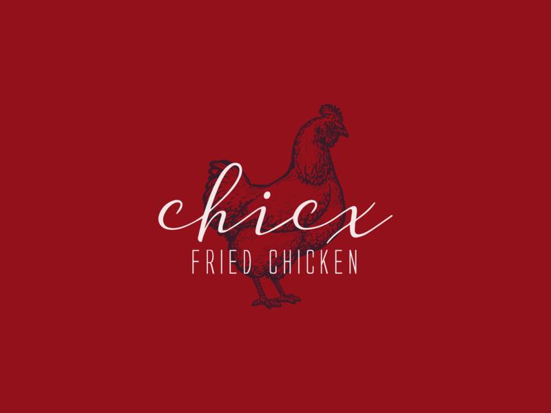 Chicx Logo fried chicken chicken branding logos logo logotype vector identity