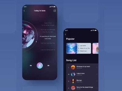 Music industry faces UI 插图 app 设计 ui
