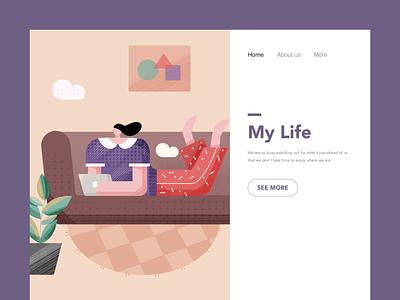Illustration of life-2 design ui 插图