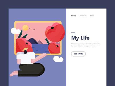 Illustration of life-3 flat illustration icon app ui 设计 插图