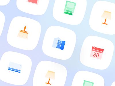 Glass icon app branding vector 插图 设计 ui icon