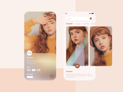 Fashion women's wear/UI