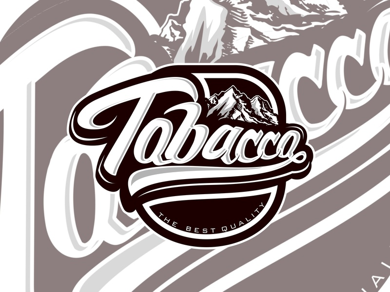 Tobacco custom type custom lettering customdesign custom vector apparel icon design lettering illustration graphicdesign branding logo typography design clothing
