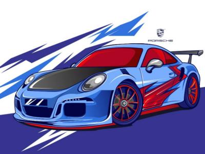 PORSCHE 911 vector design