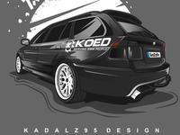 Bmw 530d car illustration